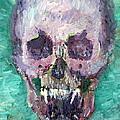 Skull Vampire Oil Portrait by Fabrizio Cassetta
