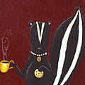 Skunk With Coffee by Christy Beckwith