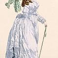 Sky Blue Promenade Dress With Green by Francois Louis Joseph Watteau