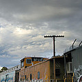 Sky Clouds And Graffiti Old Santa Fe Railyard by Kathleen Grace