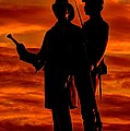 Sky Fire - 73rd Ny Infantry Fourth Excelsior Second Fire Zouaves-b1 Sunrise Autumn Gettysburg by Michael Mazaika