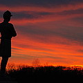Sky Fire - Aotp 124th Ny Infantry Orange Blossoms-2a Sickles Ave Devils Den Sunset Autumn Gettysburg by Michael Mazaika
