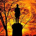 Sky Fire - Flames Of Battle 50th Pennsylvania Volunteer Infantry-a1 Sunset Antietam by Michael Mazaika