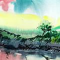 Sky N Lake by Anil Nene