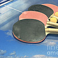 Sky Ping-pong Clouds Table Tennis Paddles Rackets by Beverly Claire Kaiya