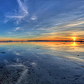 Sky Reflection In Boundary Bay by Pierre Leclerc Photography