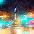 Sky Tower By Night by Helge