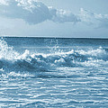 Sky -waves -water- Clouds  In Blue by Maria isabel Villamonte