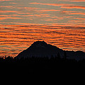 Skyfire Over The Olympic Mountains by Ronda Broatch