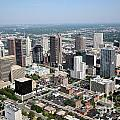 Skyline Aerial Of Columbus by Bill Cobb