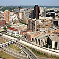 Skyline Aerial Of St. Paul Minnesota by Bill Cobb