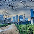 Skyline Of A Big City In South - Charlotte Nc by Alex Grichenko