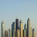 Skyline Of Buildings Around The Dubai by Michael Defreitas