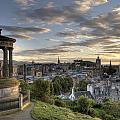 Skyline Of Edinburgh Scotland by Michalakis Ppalis