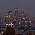 Skylines At Dusk, Seattle, King County by Panoramic Images