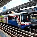 Skytrain Carriage Metro Railway At Nana Station Bangkok Thailand by Imran Ahmed