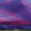 Slc Sunset Panorama by La Rae  Roberts