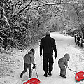 Sledding With Dad by Vanessa Thomas