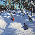 Sledging At Ladmanlow by Andrew Macara