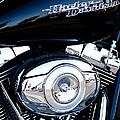 Sleek Black Harley by David Patterson