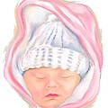 Sleeping Baby In Winter by MM Anderson
