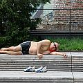Sleeping Beauty On The High Line by Allen Beatty