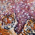 Sleeping Tigers Dream Such Sweet Dreams Kitties In Heaven by Ashleigh Dyan Bayer
