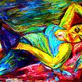 Sleeping Woman by Rachid  Hatni