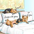 Sleeps With Yorkies by Catia Cho