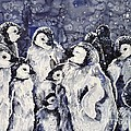 Sleepy Penguins by Zaira Dzhaubaeva