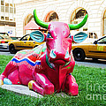 Cow Parade N Y C 2000 - Sleepy Time Cow by Allen Beatty
