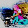 Slice Of Life Mud Oven Chulha Tandoor Indian Village Rajasthani 2 by Sue Jacobi