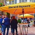 Slice Of Life Nyc-herald Square by Regina Geoghan