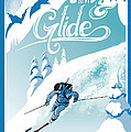 slide and glide retro ski poster by Sassan Filsoof