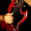 Red Gibson Guitar by Chris Berry