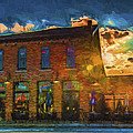 Slippery Noodle Inn Indianapolis Indiana Painted Digitally by David Haskett II
