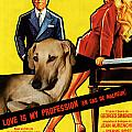 Sloughi Art - Love Is My Profession Movie Poster by Sandra Sij