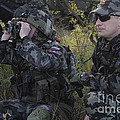 Slovenian Soldiers Watch For Simulated by Stocktrek Images