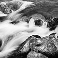 Slow Flow Black And White by James BO Insogna