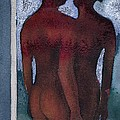 Small Blue Mirror by Graham Dean