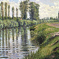 Small Branch Of The Seine At Argenteuil by Gustave Caillebotte