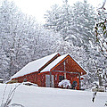 Small Cabin In The Snow by Duane McCullough