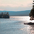 Small Dock On Lake George by David Patterson