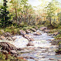 Small Falls In The Forest by Dorothy Maier