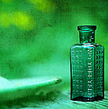 Small Green Poison Bottle by Rebecca Sherman