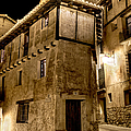 Small House In Albarracin At Night by Weston Westmoreland
