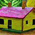 Small-house- Painting by Milan Karadzic