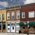 Small Town Main Street Shops by Michael Shake