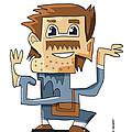 Smart Guy Doodle Character by Frank Ramspott