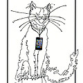 Smart Phone Cat by Elia Peters